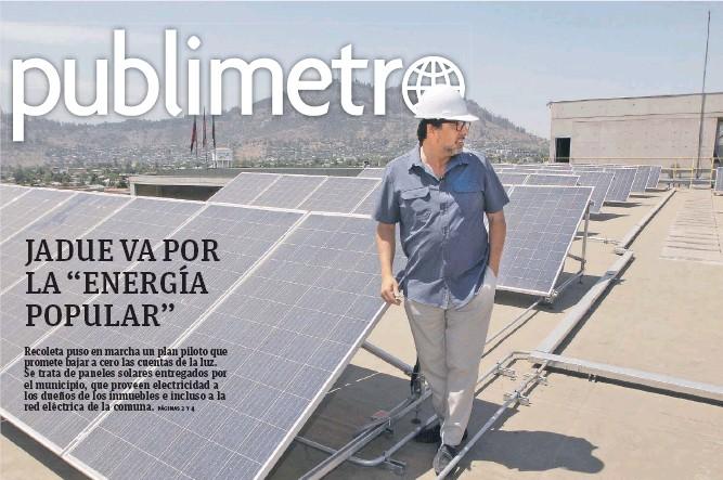 Alcalde de Recoleta implementa iniciativa de paneles solares para la comunidad